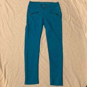 Justice Turquoise Legging Jeans